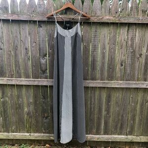 Laundry Shelli Segal Black & White Maxi Dress 2 XS